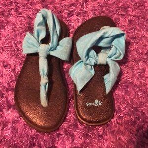 Teal Sanuk Sandals